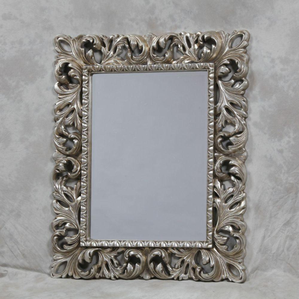 Aranya Silver Contemporary Framed Wall Mirror