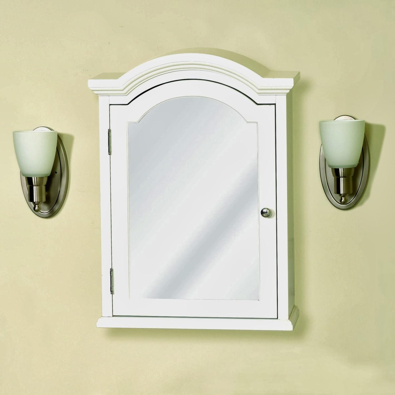 Arched Bathroom Mirror Cabinet