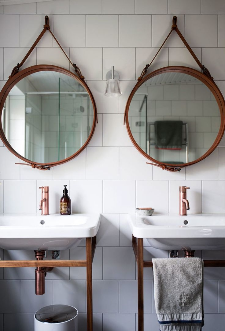 Arrange Circle Mirrors On Wall Arrange Circle Mirrors On Wall arranging circle mirrors in a bathroom home 736 X 1081