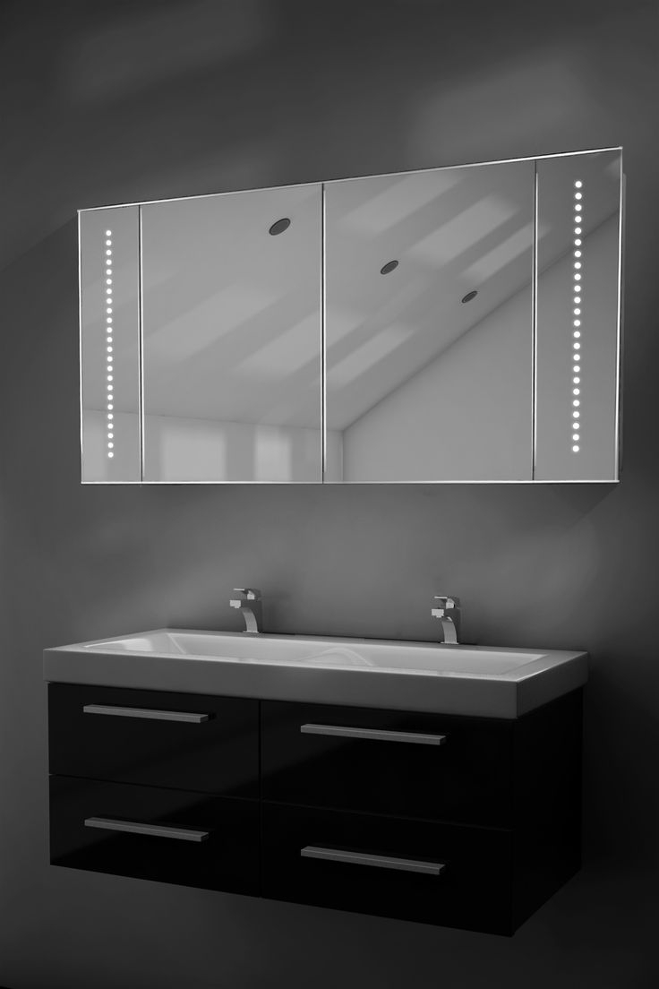 Astound Led Illuminated Bathroom Mirror Cabinet With Sensor & Shaver K18