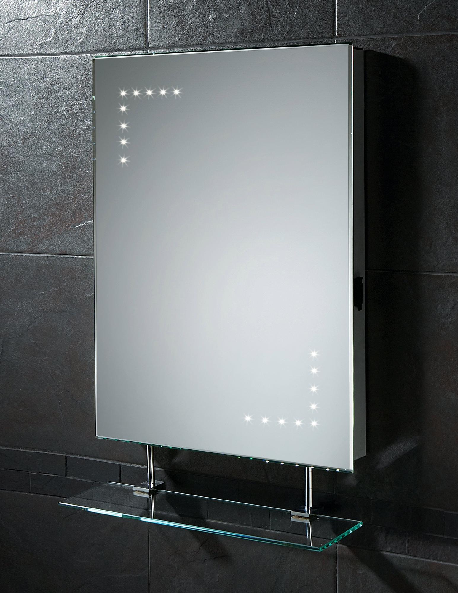 Aura 50cm Mirror Bathroom Cabinet With Led Lights