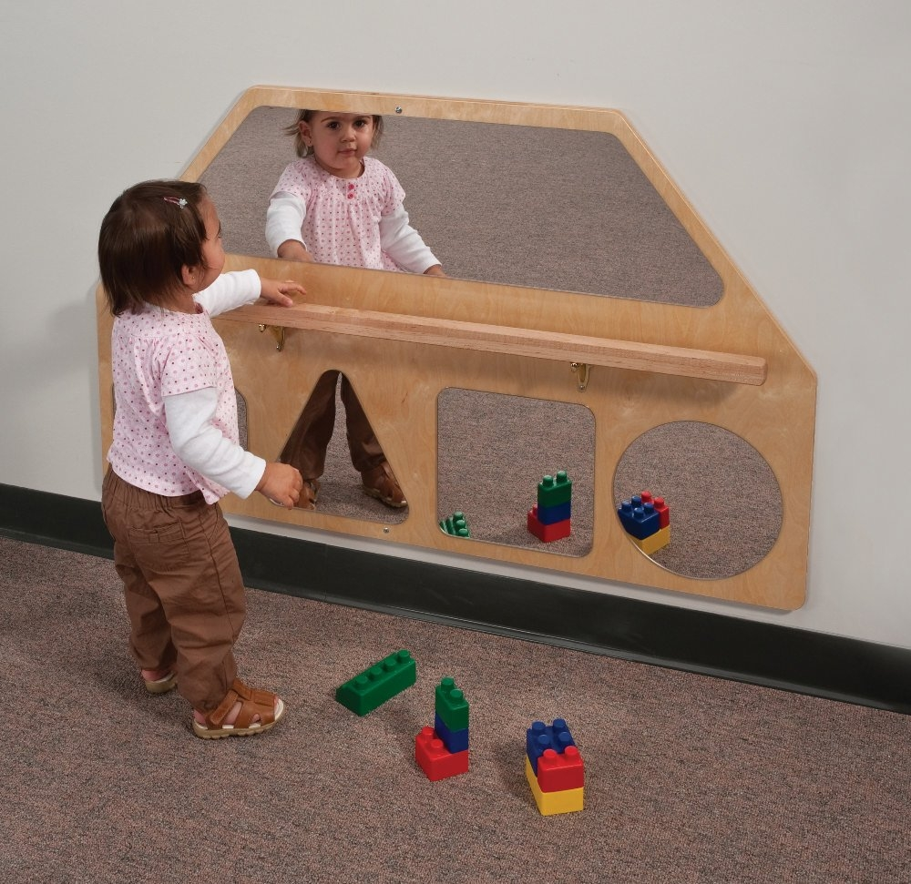 Baby Wall Mirror With Bar Baby Wall Mirror With Bar wall mirror shapes with pull up bar whitney bros 1000 X 971