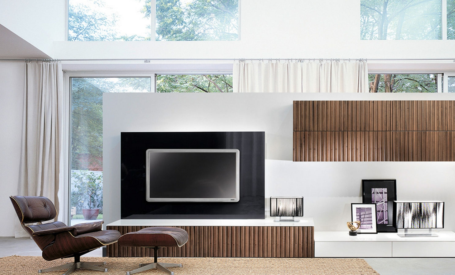 Bassett Mirror Tv Wall Cabinet