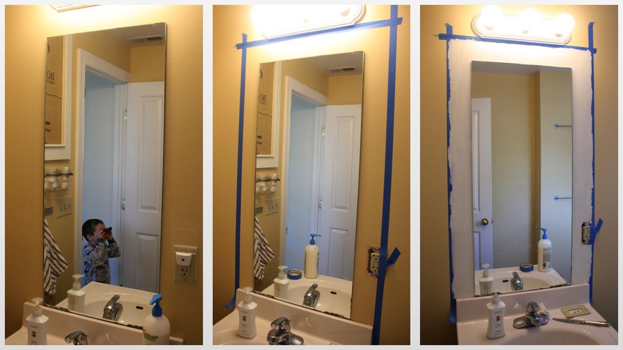 Bathroom Framed Mirrors Diy
