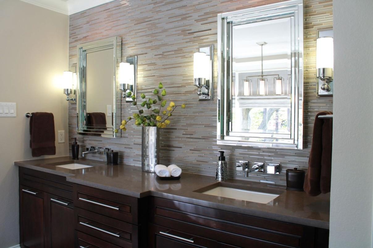 Bathroom Lighting Between Mirrors