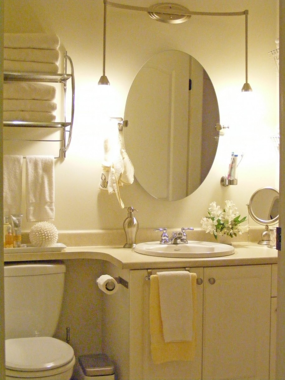 Bathroom Lighting Over Oval Mirror