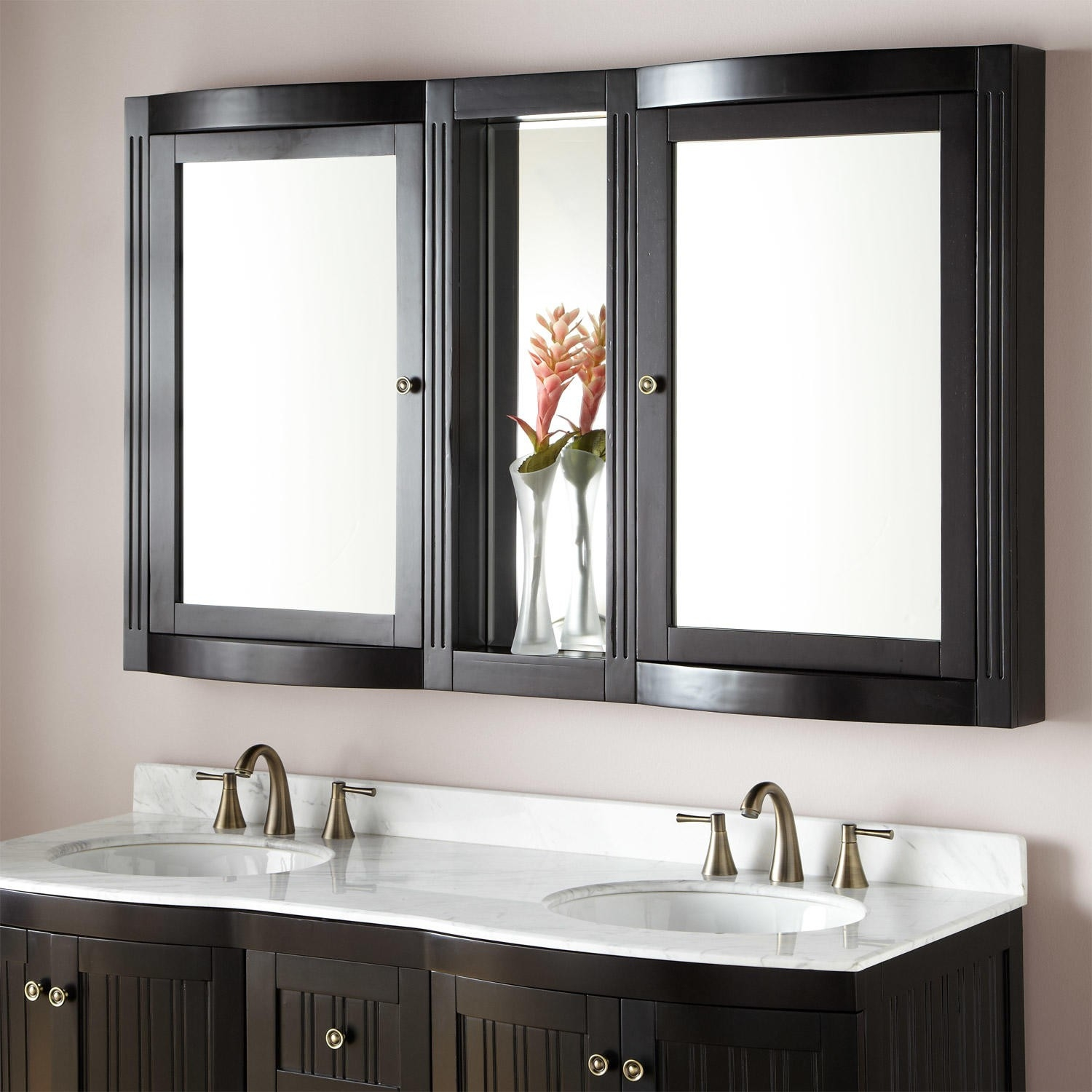 Bathroom Mirror And Matching Cabinet