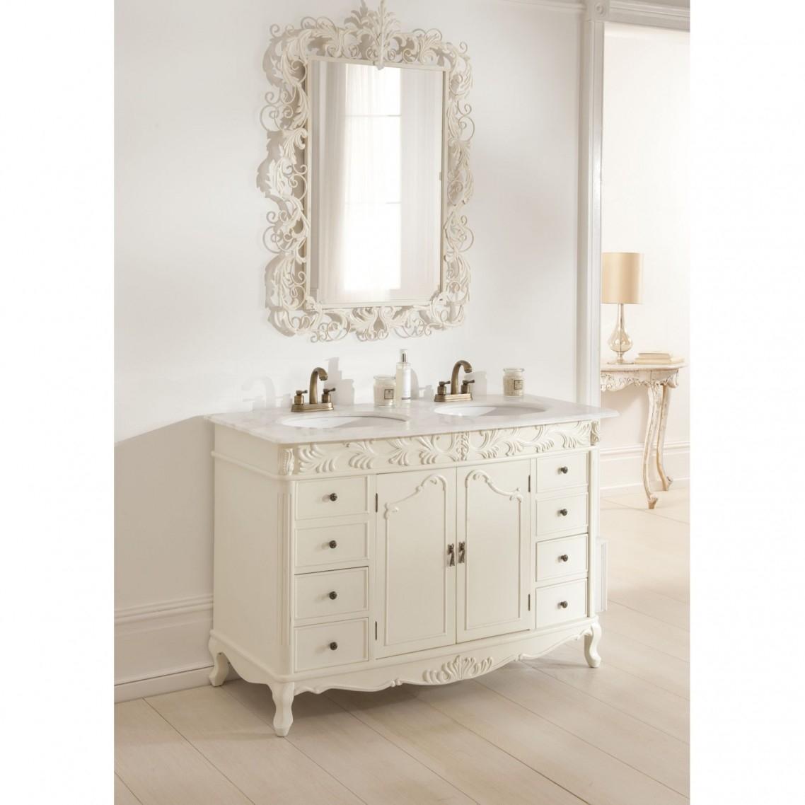 Bathroom Mirror Antique White