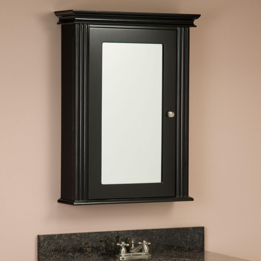 Bathroom Mirror Cabinet Black
