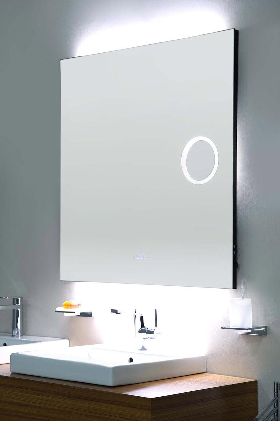 Bathroom Mirror Cabinet With Clock