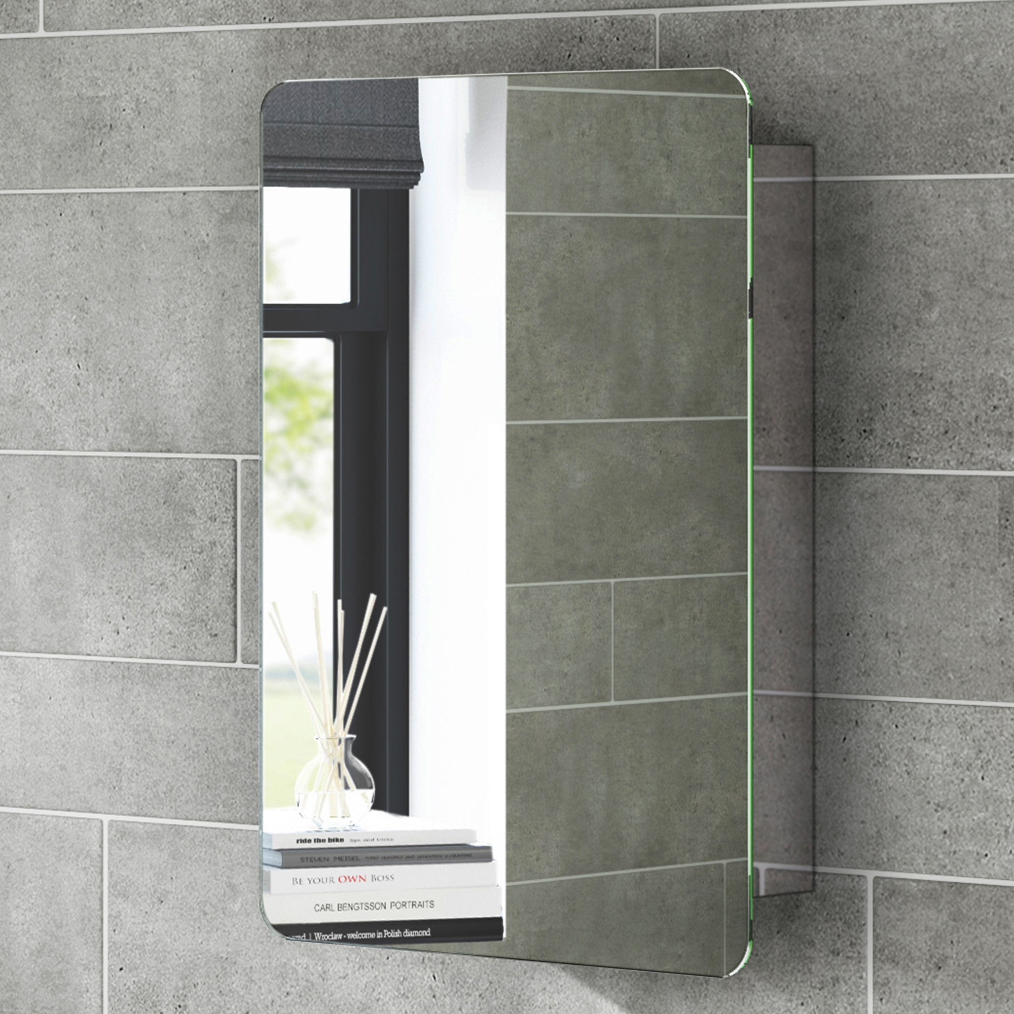 Bathroom Mirror Cabinet With Sliding Door