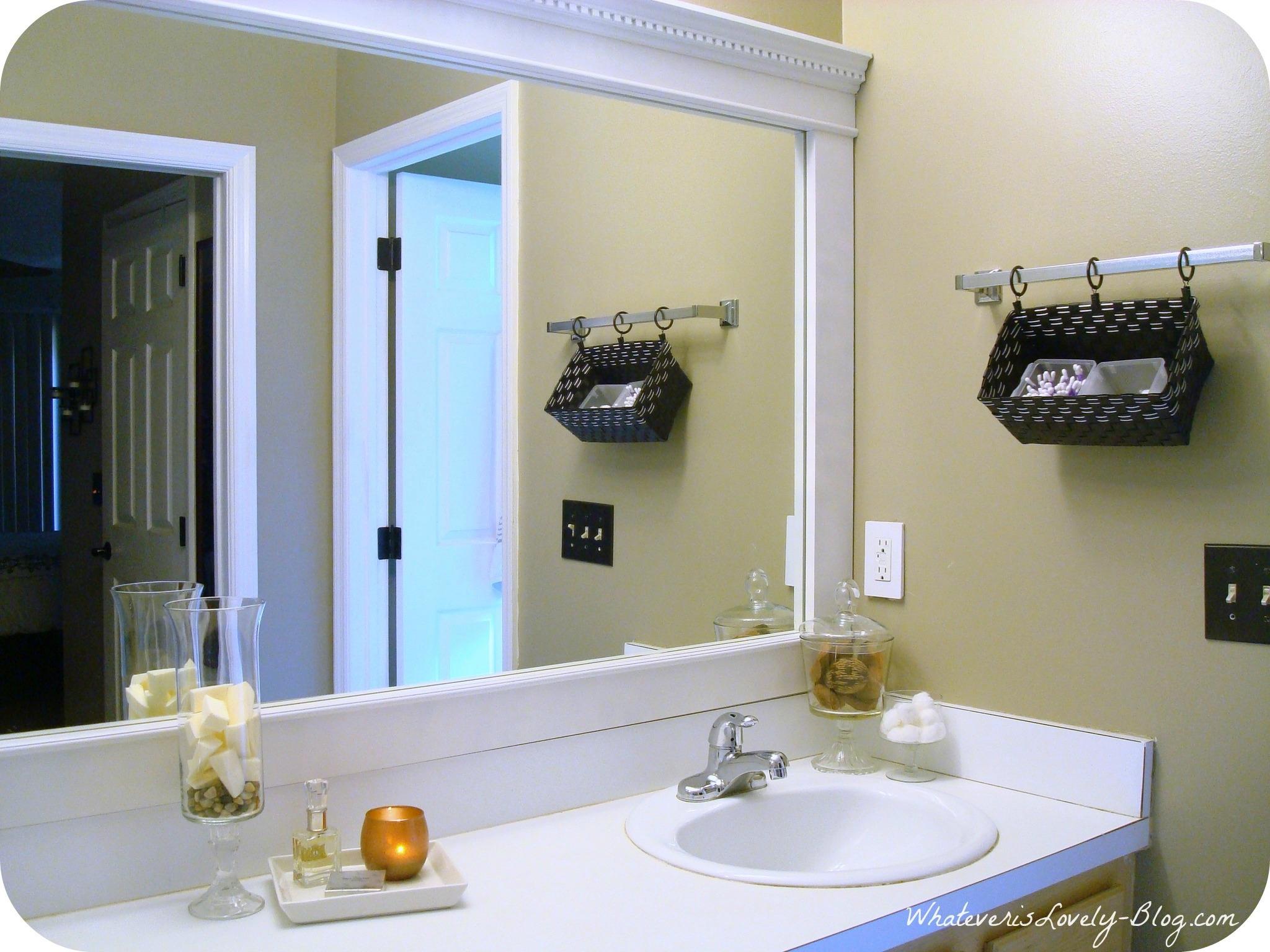 Bathroom Mirror Diy Frame