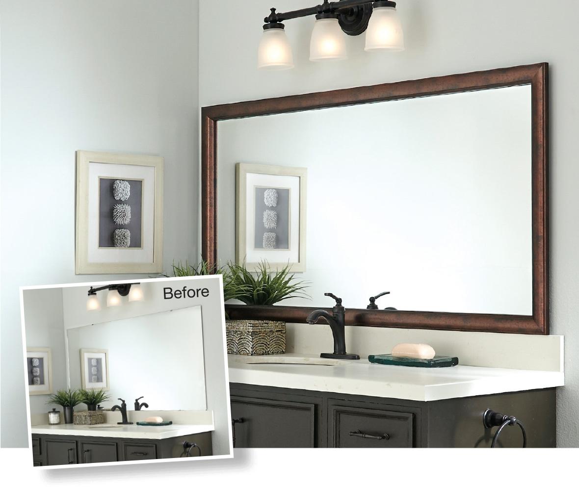 Bathroom Mirror Frame Adhesive