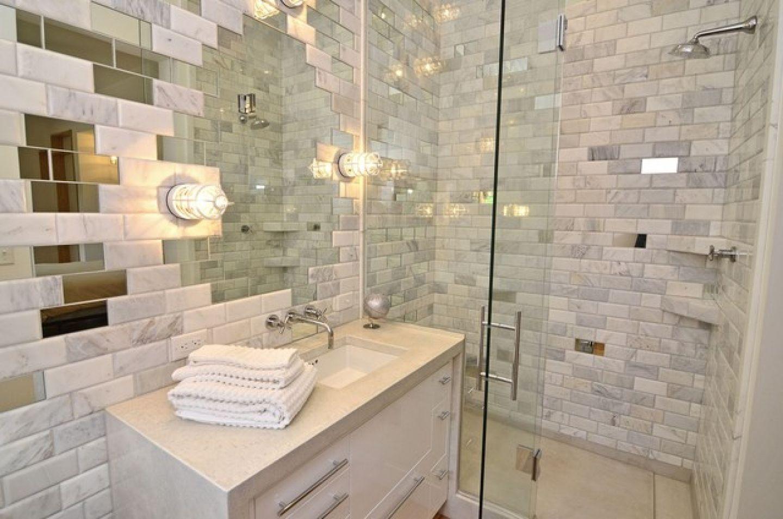 Bathroom Mirror Tiles Ideas