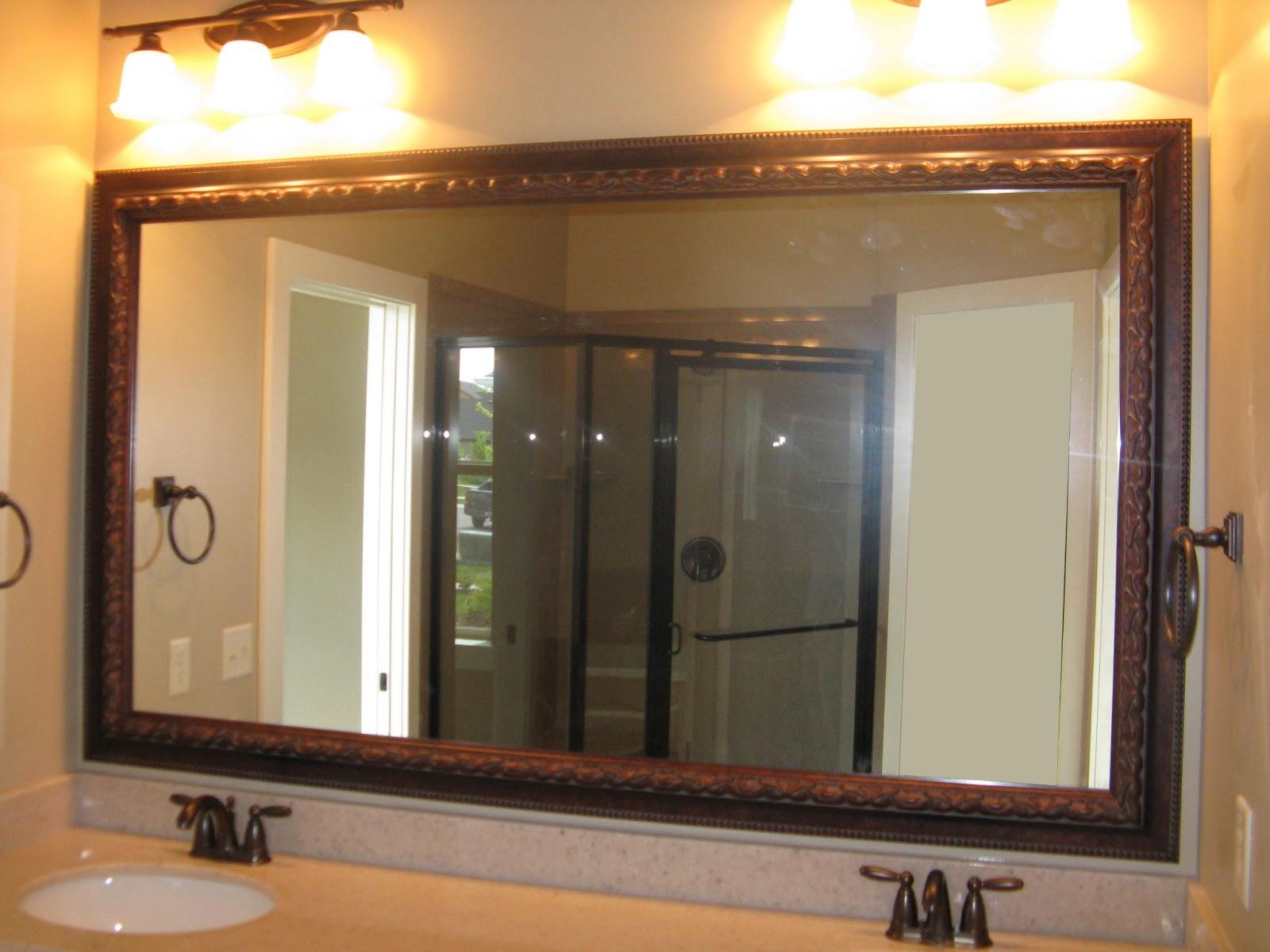 Bathroom Mirror Trim Kitreflected design same mirror frame kit 4 different looks