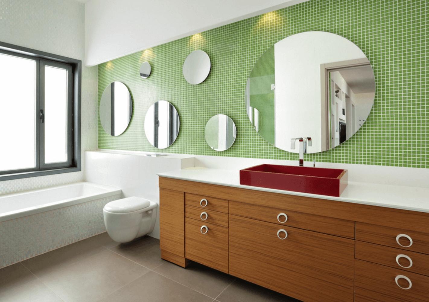 Bathroom Mirror Wall Ideas