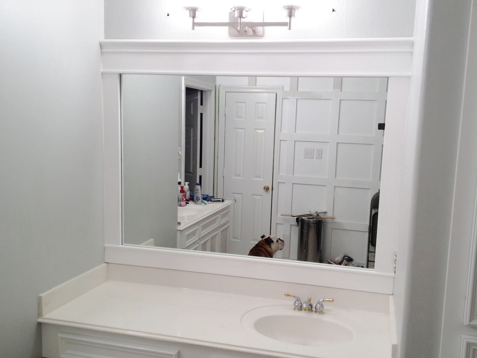 Bathroom Mirror White Wood