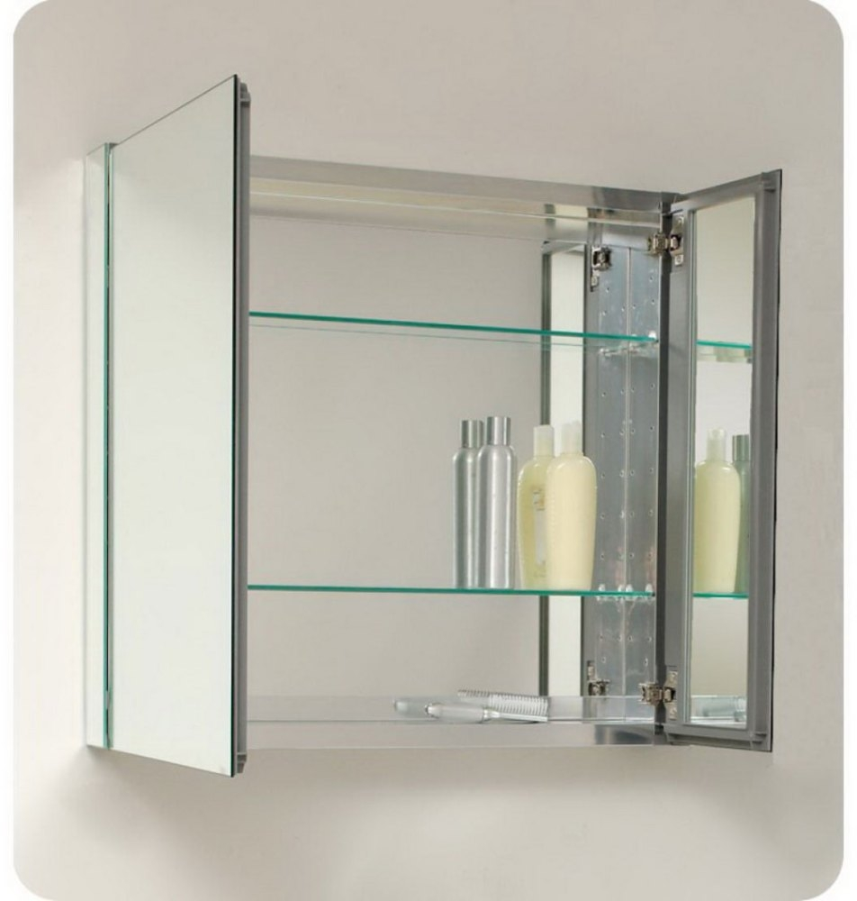 Bathroom Mirror With Glass Shelves