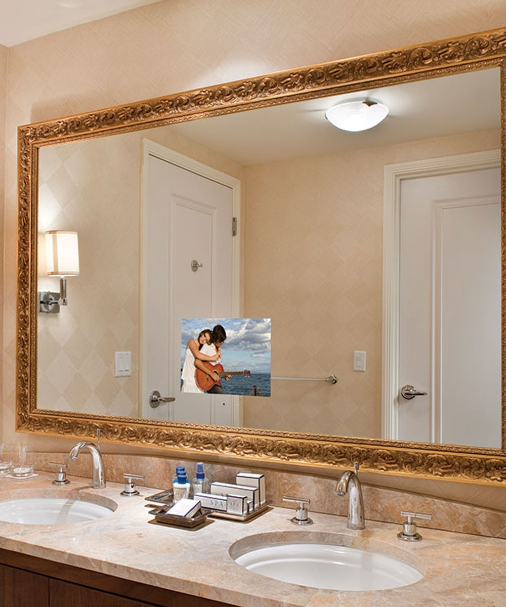 Bathroom Mirror With Integrated Tv