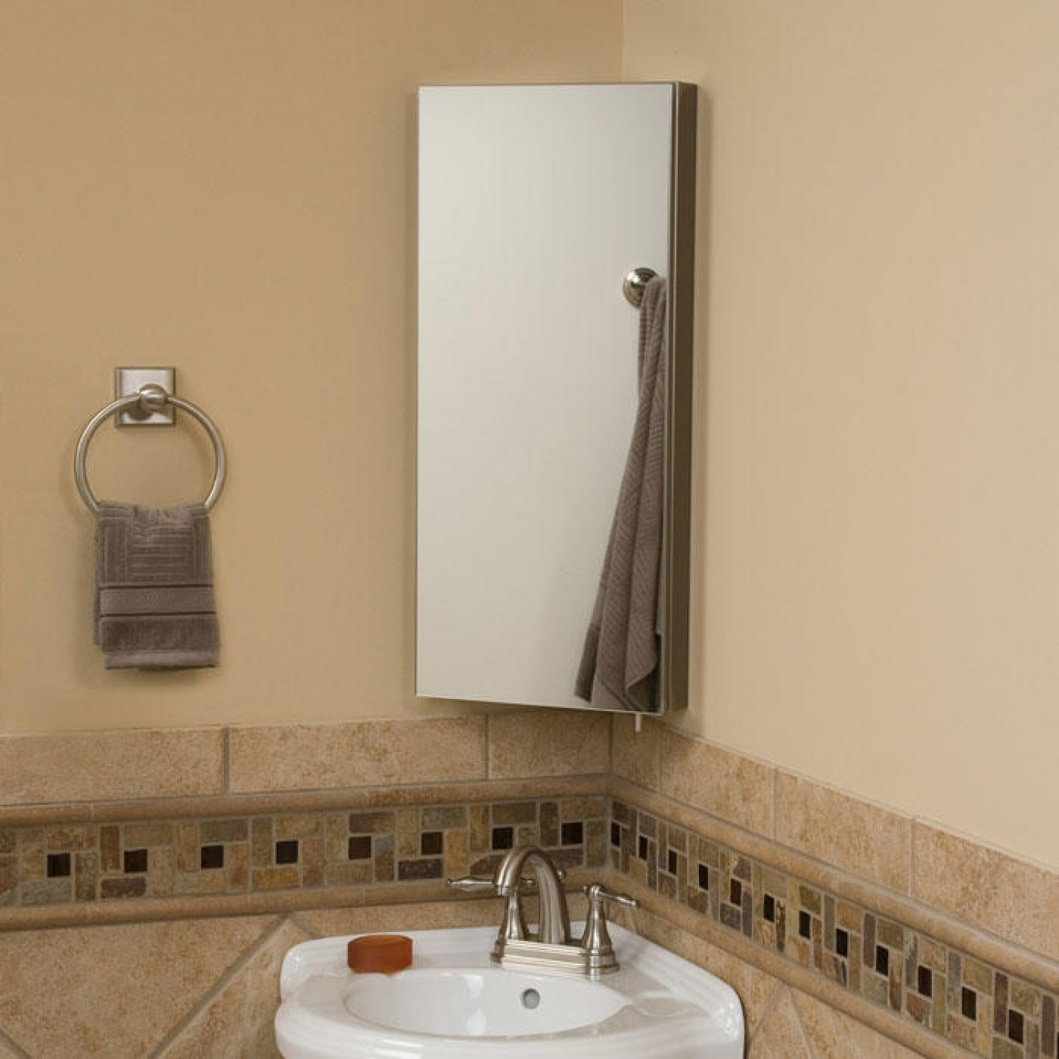 Bathroom Mirror With Rounded Corners