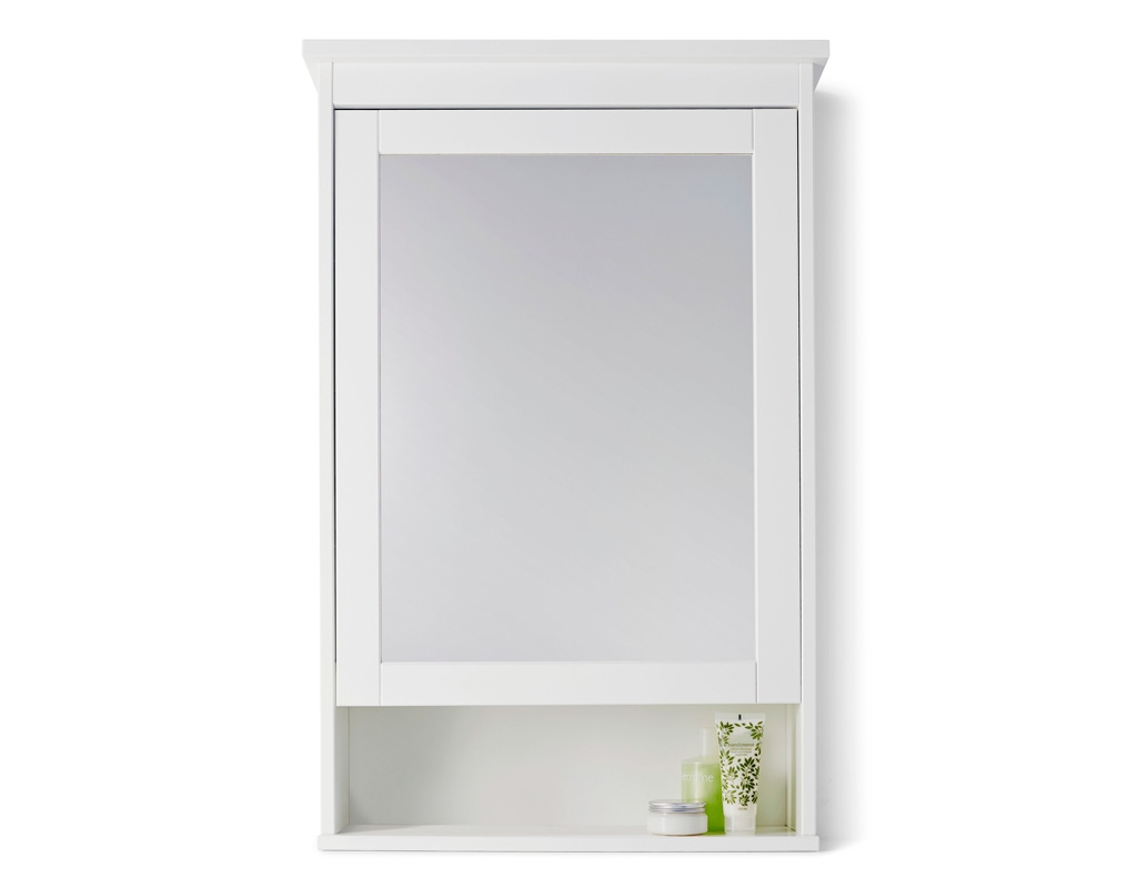 Permalink to Bathroom Mirror With Shelf White