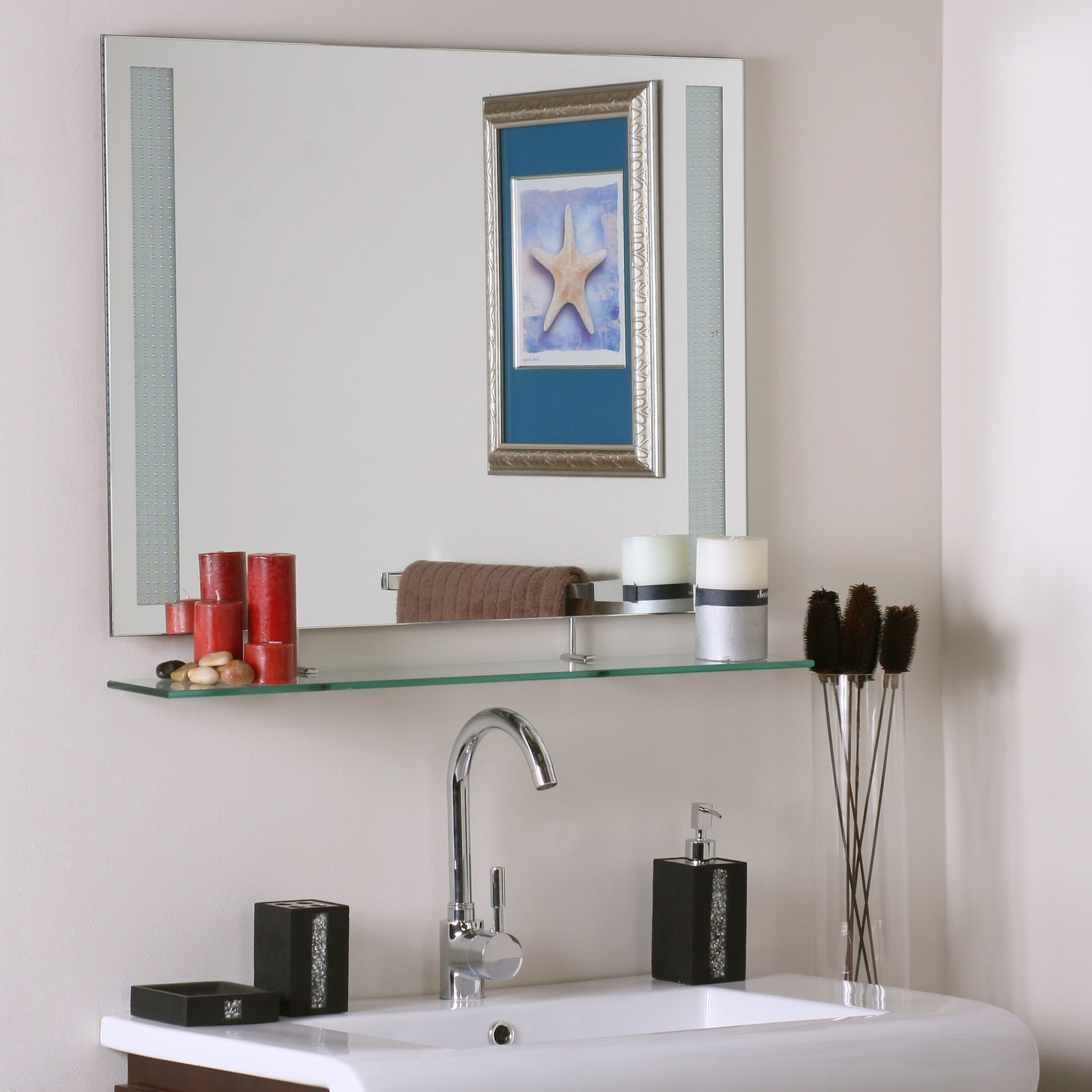 Permalink to Bathroom Mirror With Shelf