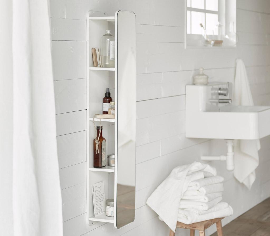 Bathroom Mirror With Shelves Behind