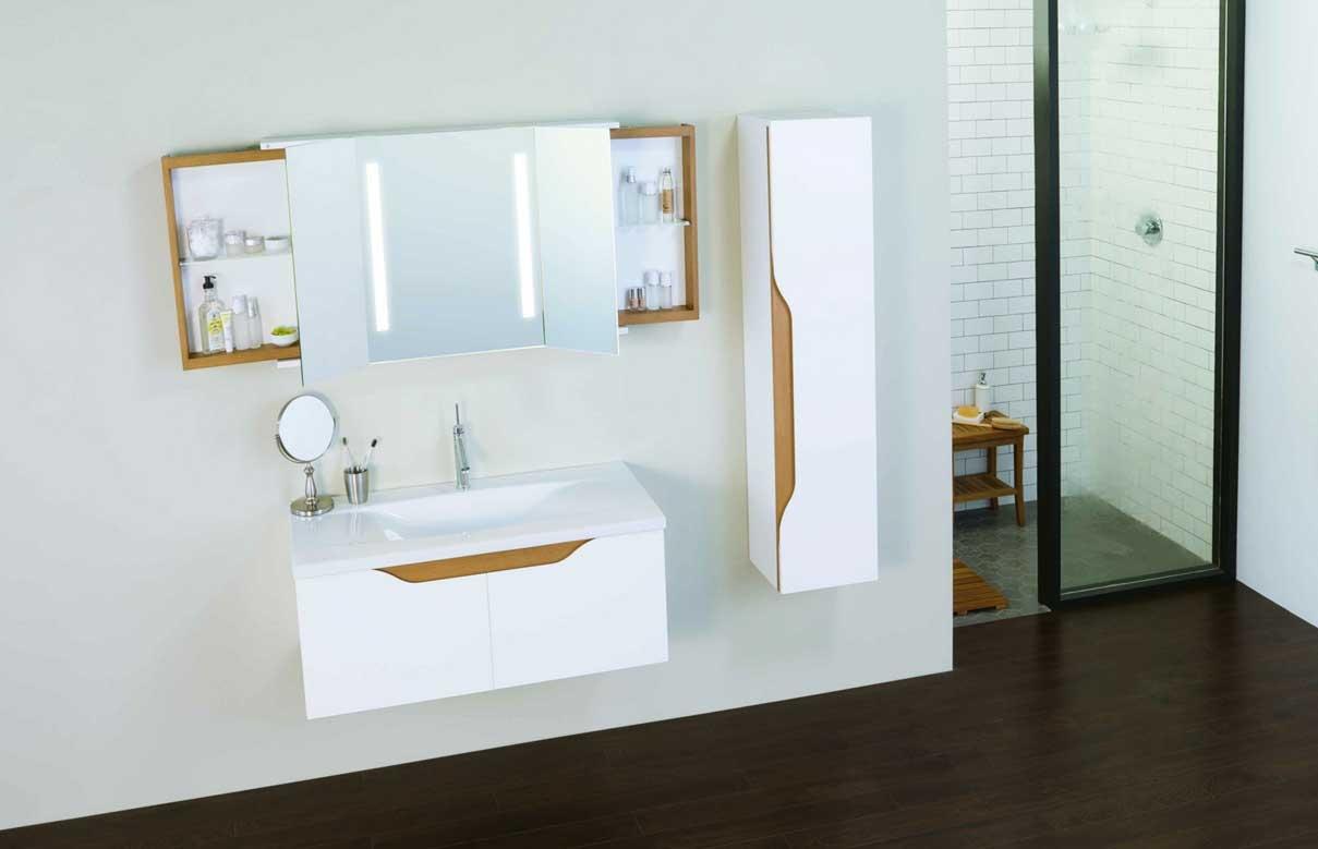 Bathroom Mirror With Side Storage