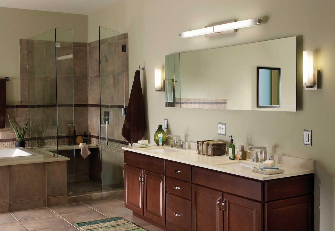 Permalink to Bathroom Mirror With Wall Sconces