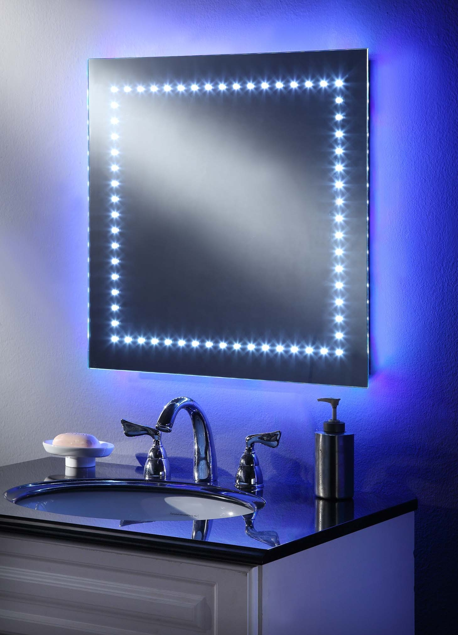 Bathroom Mirrors Blue Led Lights