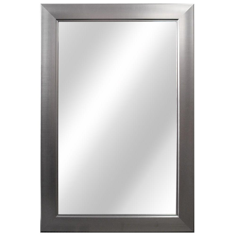 Bathroom Mirrors Brushed Nickel Finish