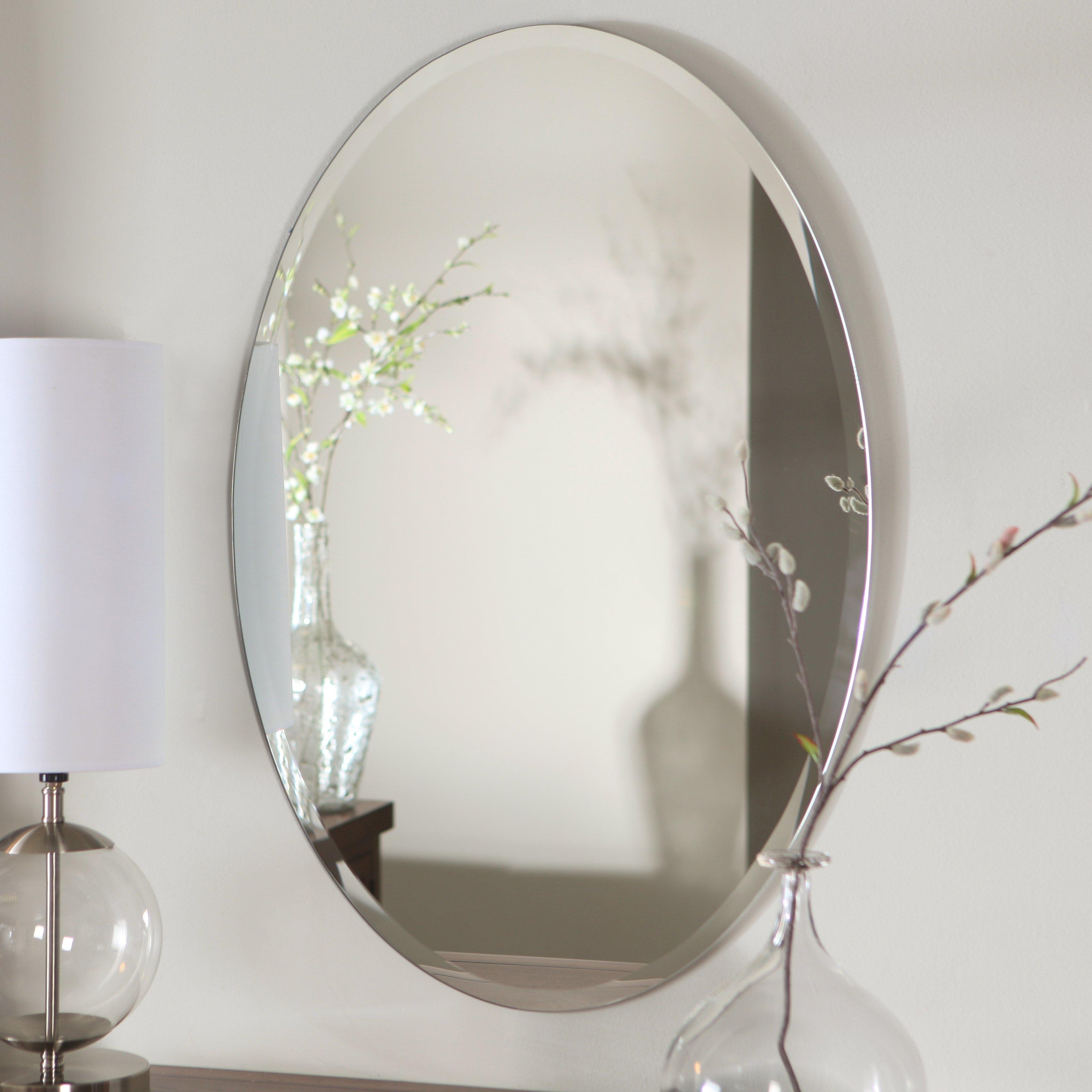 Bathroom Mirrors Oval Frameless