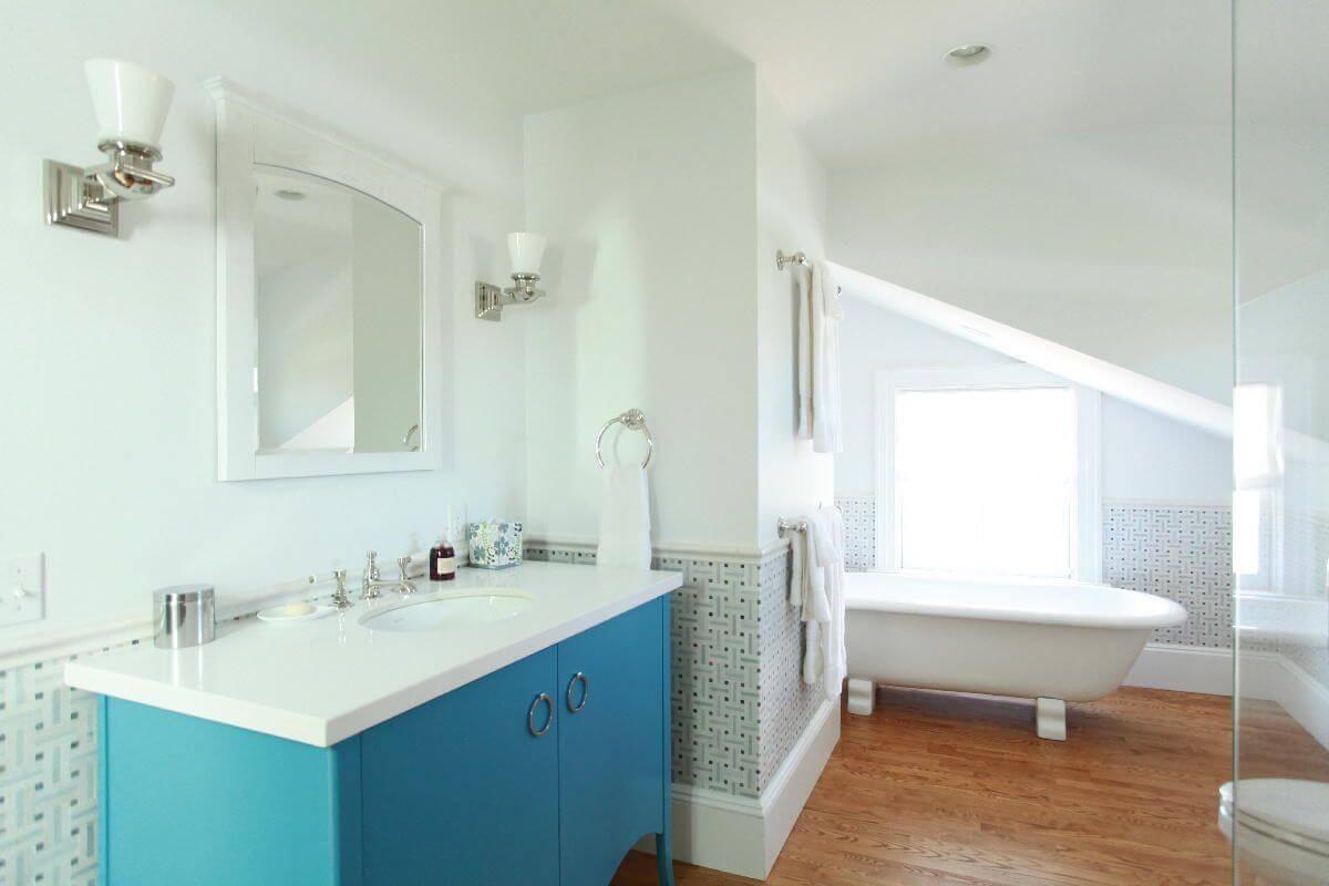 Bathroom Mirrors Slanted Walls