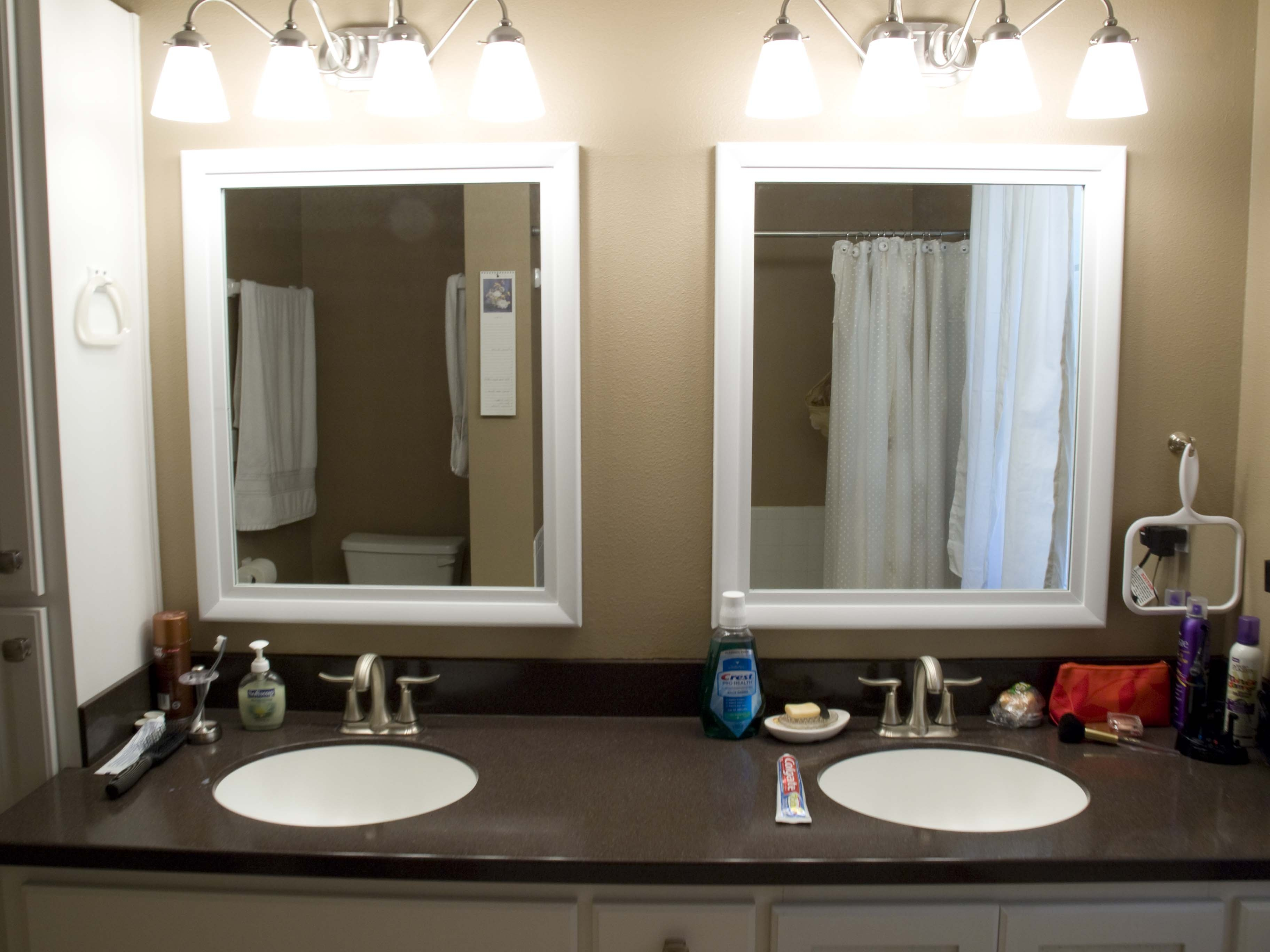 Bathroom Mirrors White Trim