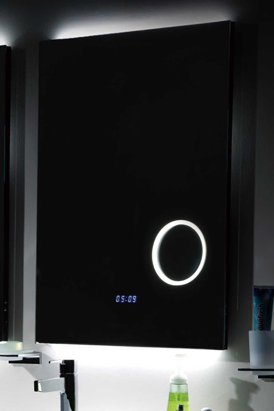 Bathroom Mirrors With Led Lights And Clock