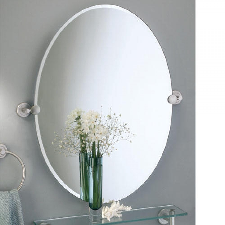 Bathroom Oval Pivot Mirrors