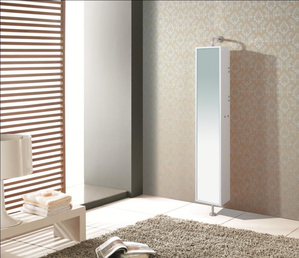 Bathroom Revolving Mirror With Storage Behind