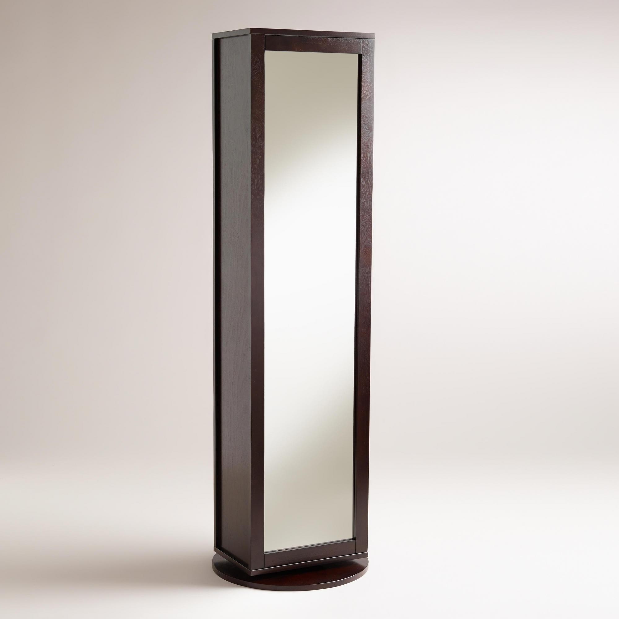 Bathroom Swivel Mirror With Shelves