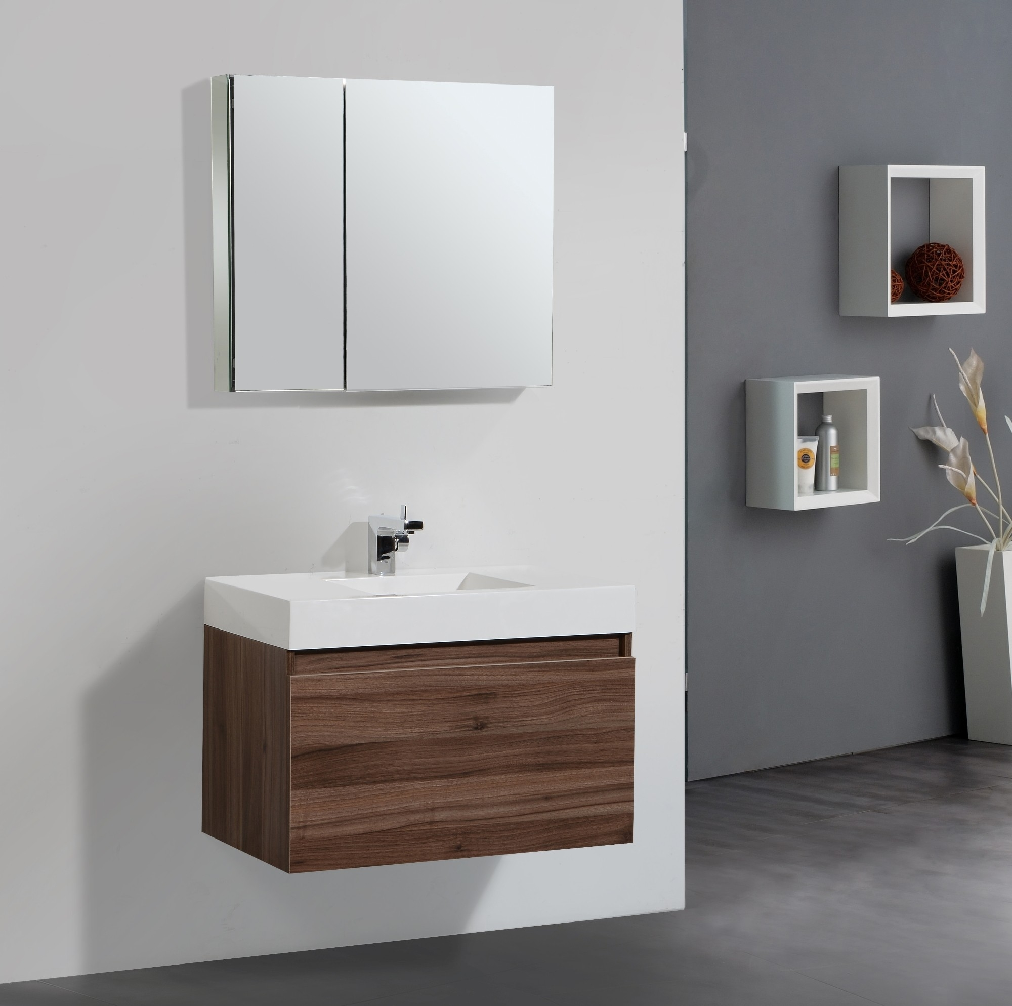 Bathroom Vanity Sink Mirror Combo