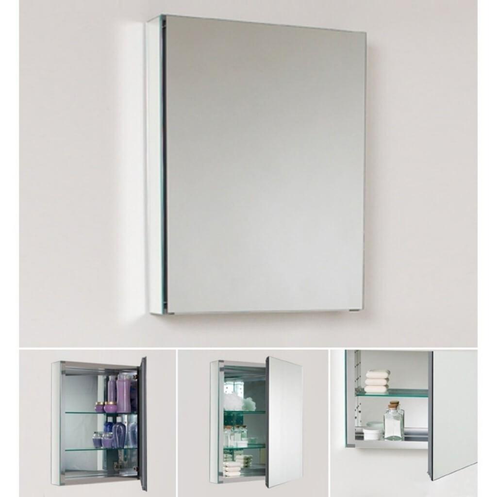 Bathroom Wall Cabinet With Mirrored Door