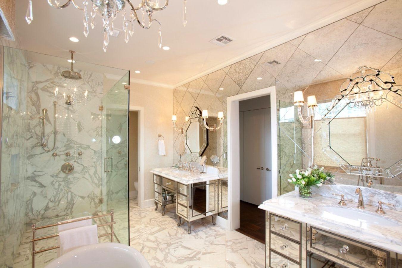 Bathroom With Mirror Tiles