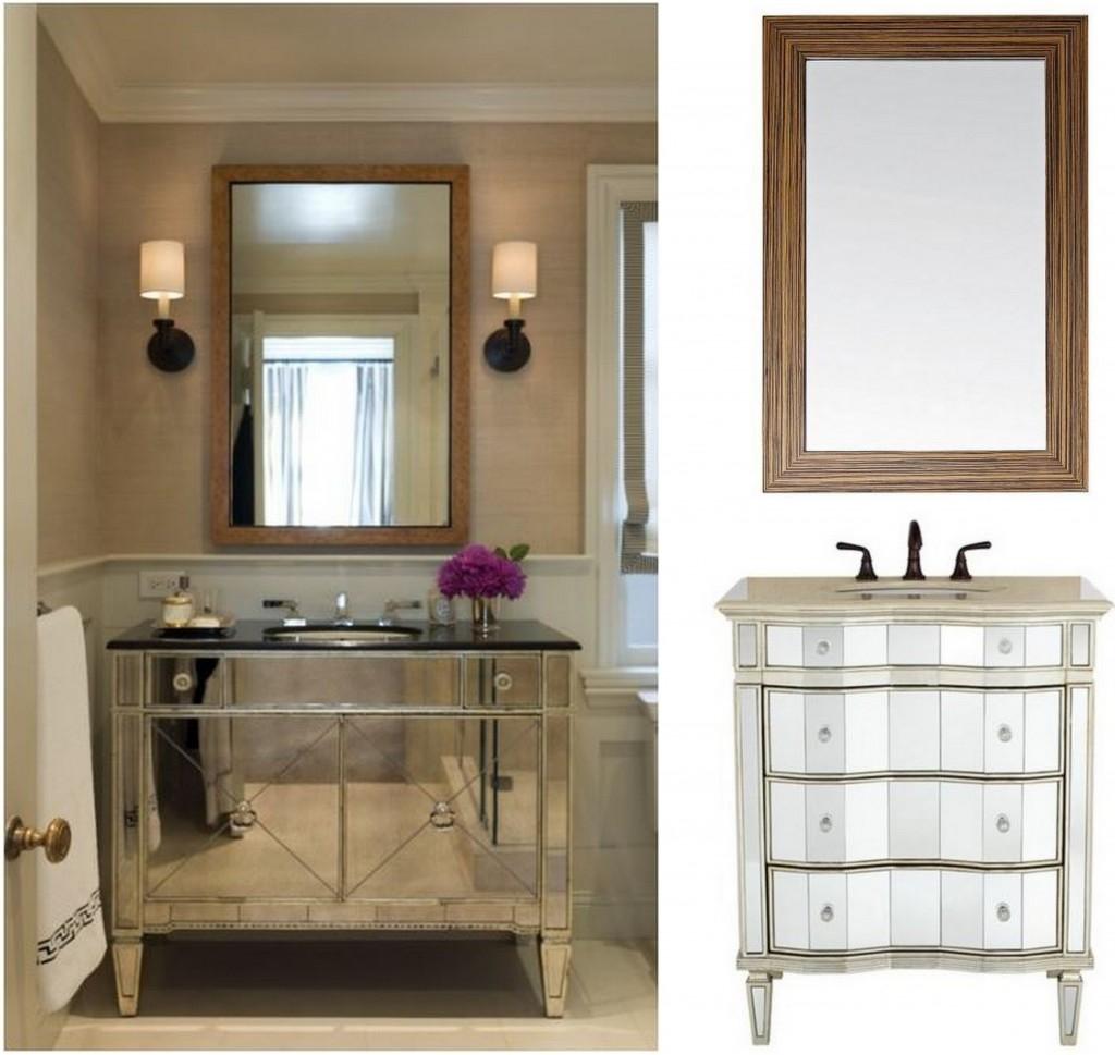 Bathroom With Mirrored Vanity