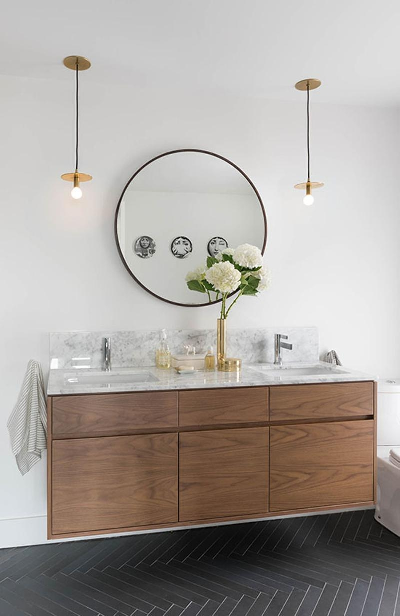Bathrooms With Round Mirrors
