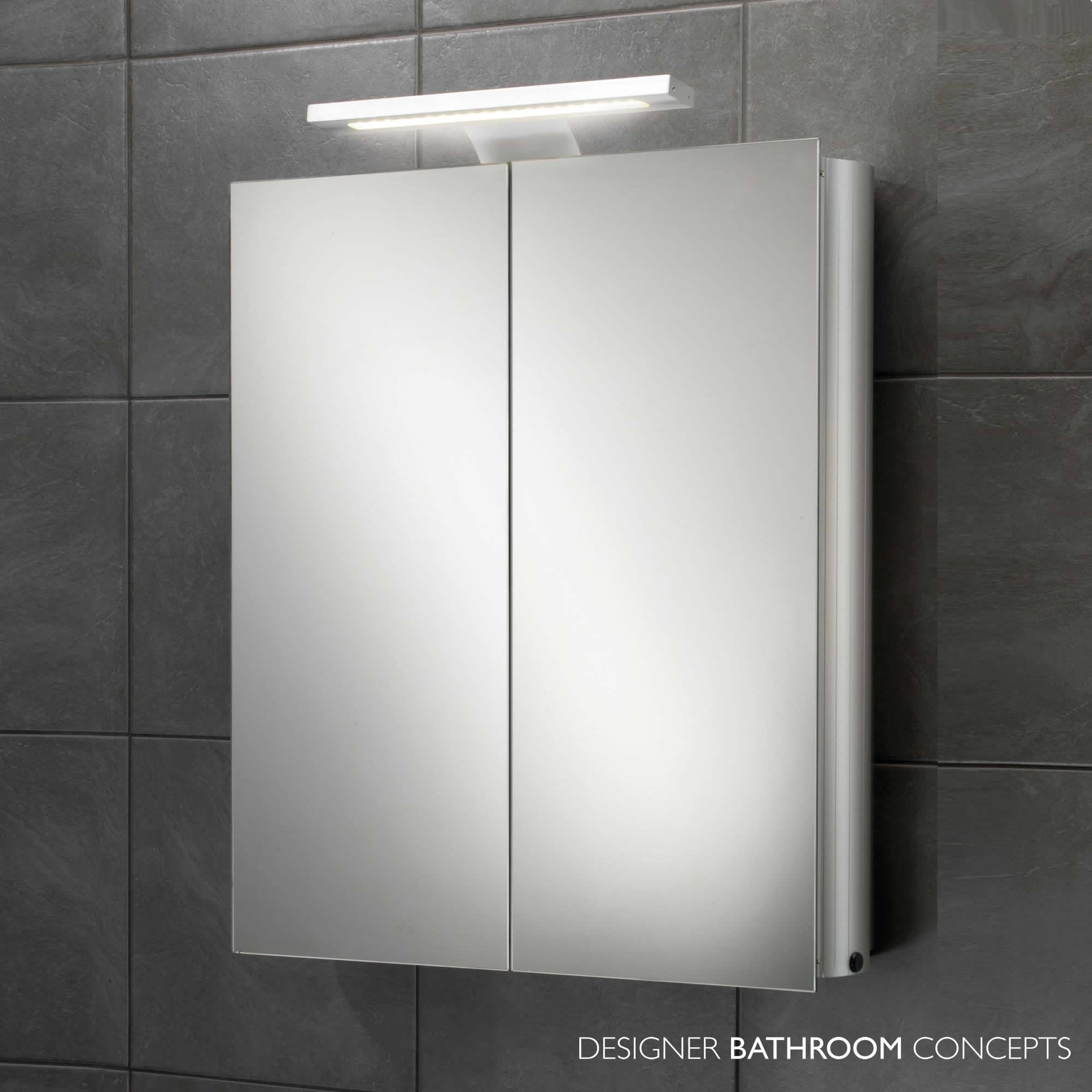 Battery Operated Bathroom Mirror Cabinet