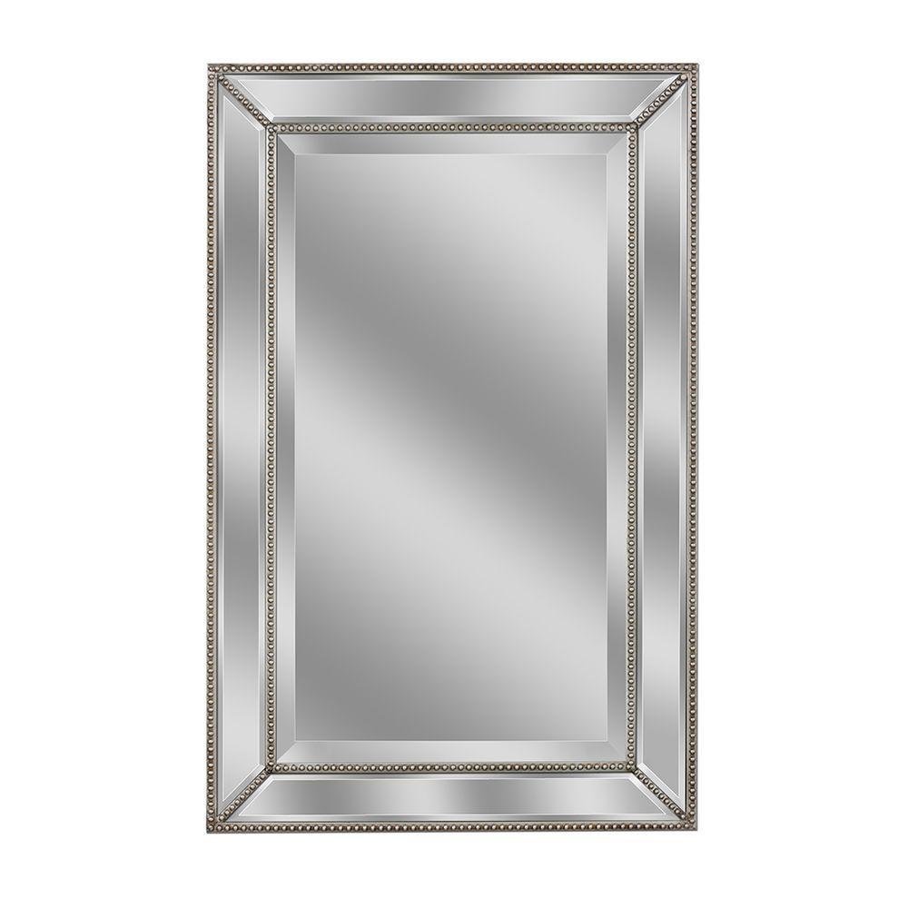 Beveled Beaded Wall Mirror