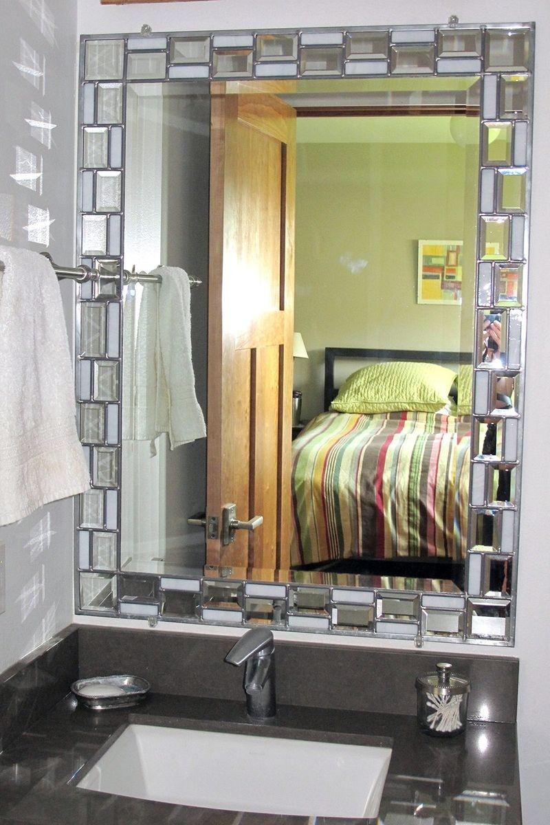 Beveled Glass Bathroom Mirrors