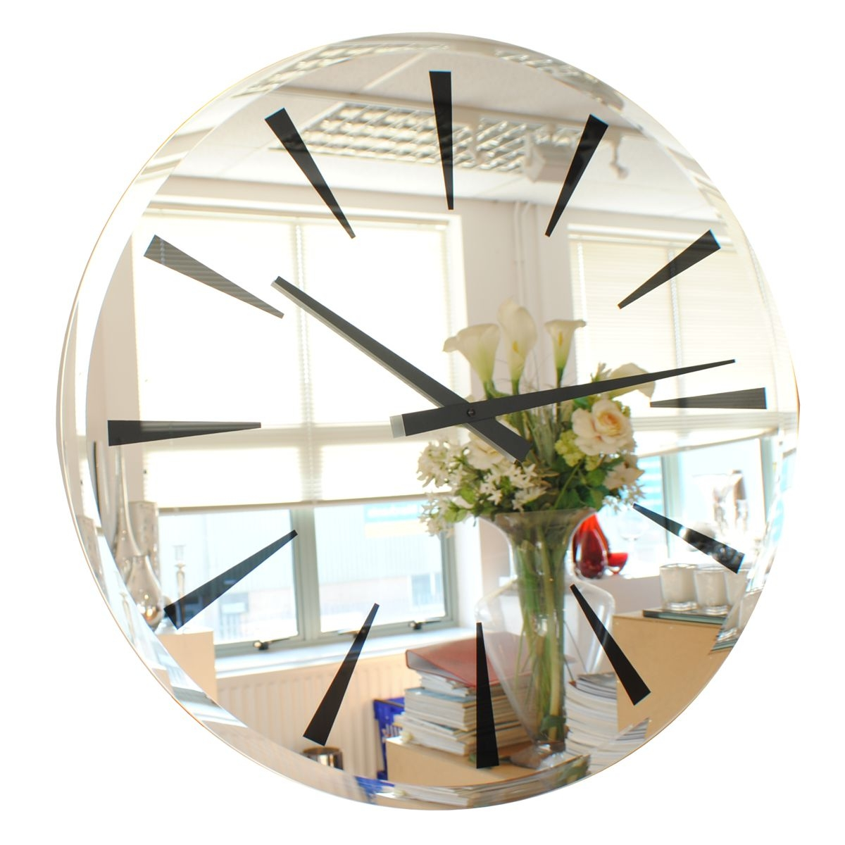 Beveled Mirror Wall Clock