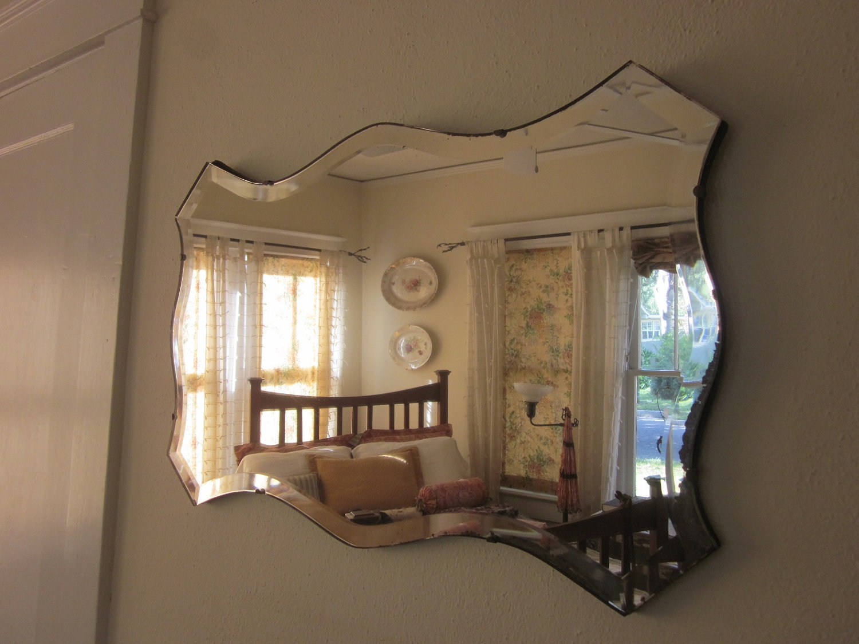 Beveled Wall Mirror Vintage