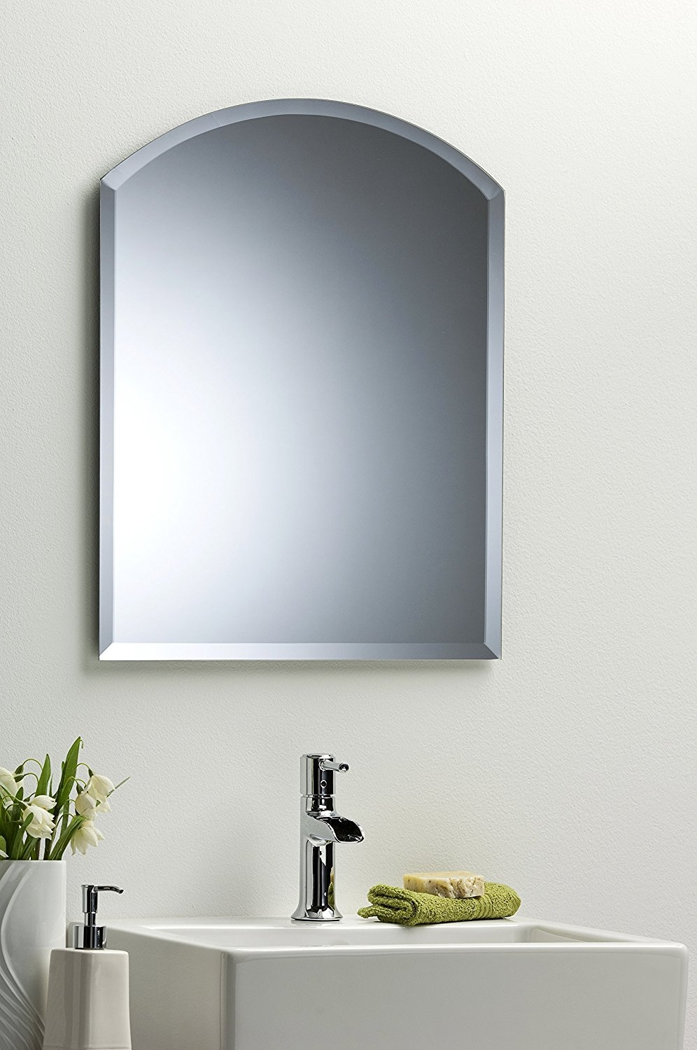 Bevelled Drilled Bathroom Mirrors