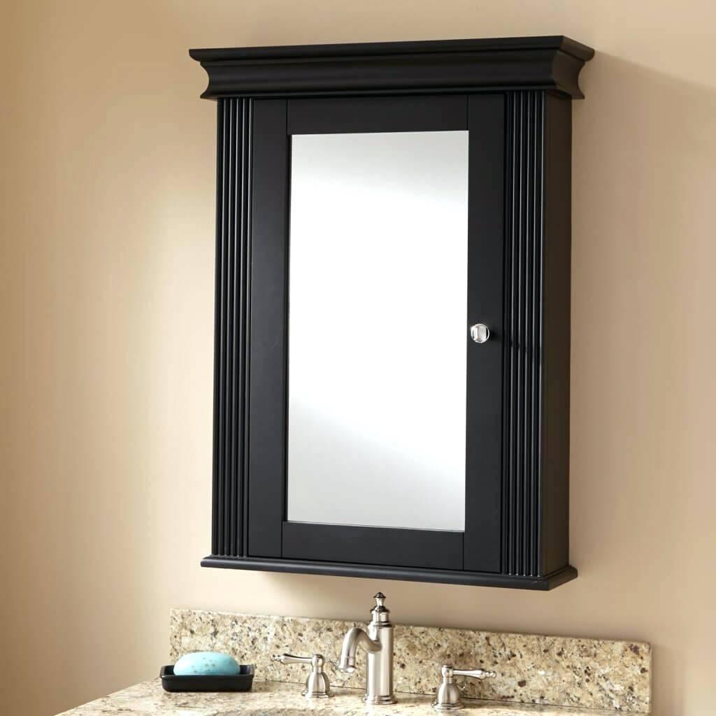 Black Bathroom Medicine Cabinet With Mirror